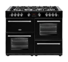 Belling Farmhouse FH110DFTBK Dual Fuel Range Cooker