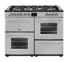 Belling Farmhouse FH110DFTSIL Dual Fuel Range Cooker