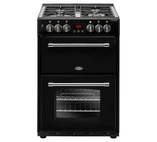 Belling Farmhouse FH60DFTBK Dual Fuel Range Cooker