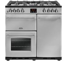 Belling Farmhouse FH90DFTSIL Dual Fuel Range Cooker