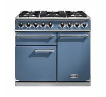 Falcon F1000DXDFCANM - 1000 Deluxe Dual Fuel China Blue Nickel Range Cooker 98620