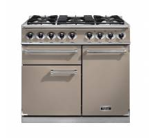 Falcon F1000DXDFFNNM - 1000 Deluxe Dual Fuel Fawn Nickel Range Cooker 115360