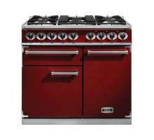 Falcon F1000DXDFRDNM - 1000 Deluxe Dual Fuel Cherry Red Nickel Range Cooker 98640