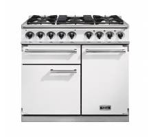 Falcon F1000DXDFWHNM - 1000 Deluxe Dual Fuel White Nickel Range Cooker 98650
