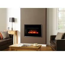 Gazco Riva2 670 Electric Evoke Black Glass Fire