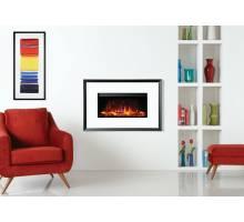 Gazco Riva2 670 Electric Evoke White Glass Fire