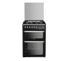 Hotpoint Ultima HUD61KS Dual Fuel Cooker