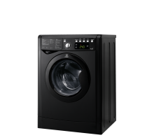 Indesit Ecotime IWDE 7145 K Washer Dryer - Black