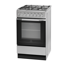 Indesit I5GSH1S Single Dual Fuel Cooker - Silver