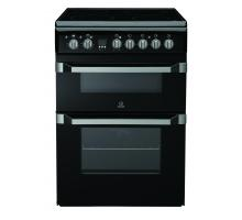 Indesit ID60C2A S Double Oven Electric Cooker - Anthracite Black