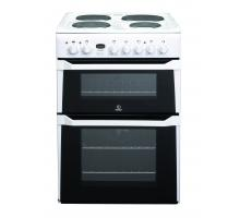 Indesit ID60E2WS Double Oven Electric Cooker - White