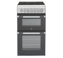 Indesit IT50C1S Twin Cavity Electric Cooker - Mercury Silver