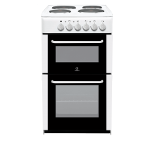 Indesit RIT50EW Twin Cavity Electric Cooker - White