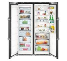 Liebherr Premium SBSbs8673 Black Smart Steel Side-by-Side BioFresh Food Centres