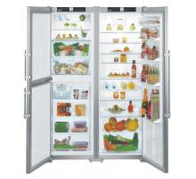 Liebherr Premium SBSes 7353 Smart Steel Side-by-Side BioFresh Food Centres