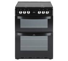 New World NW601GTCL Twin Cavity Gas Cooker Black