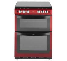 New World NW601GTCL Twin Cavity Gas Cooker Red