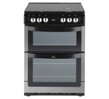 New World NW601GTCL Twin Cavity Gas Cooker Stainless Steel