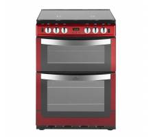 New World NW601GTCLM Twin Cavity Gas Cooker with Minute Minder Red