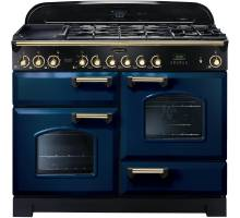 Rangemaster  CDL110DFFRB/B - 110cm Classic Deluxe Dual Fuel Regal Blue/Brass Range Cooker 112920