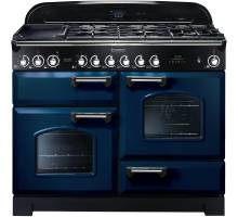 Rangemaster  CDL110DFFRB/C - 110cm Classic Deluxe Dual Fuel Regal Blue/Chrome Range Cooker 112910
