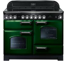Rangemaster  CDL110ECRG/C - 110cm Classic Deluxe Electric Ceramic Racing Green/Chrome Range Cooker 114110