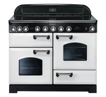 Rangemaster  CDL110EIWH/C - 110cm Classic Deluxe Electric Induction White/Chrome Range Cooker 113110