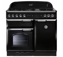 Rangemaster  CLAS100NGFBL/C - 100cm Classic Natural Gas Black/Chrome Range Cooker 111820