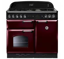 Rangemaster  CLAS100NGFCY/C- 100cm Classic Natural Gas Cranberry/Chrome Range Cooker 111860