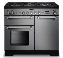Rangemaster  KCH100NGFSS/C - 100cm Kitchener Natural Gas Stainless Steel/Chrome Range Cooker 111930