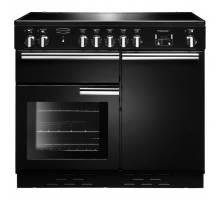 Rangemaster  PROP100ECBL/C - 100cm Professional + Ceramic Black/Chrome Range Cooker 112360