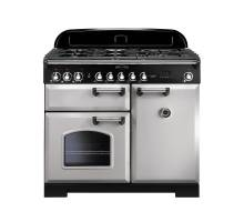 Rangemaster CDL100DFFRP/C - 100cm Classic Deluxe Dual Fuel Royal Pearl/Chrome Range Cooker 100630