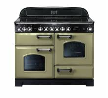 Rangemaster CDL110ECOGC 110cm Classic Deluxe Electric Ceramic Olive Green Chrome Range Cooker 100940