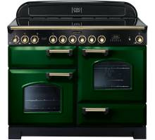 Rangemaster CDL110ECRG/B - 110cm Classic Deluxe Electric Ceramic Racing Green/Brass Range Cooker 114120