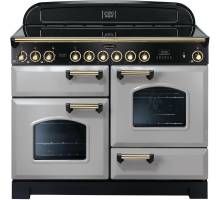 Rangemaster CDL110ECRP/B - 110cm Classic Deluxe Electric Ceramic Royal Pearl/Brass Range Cooker 114600