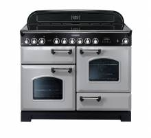 Rangemaster CDL110ECRPC - 110cm Classic Deluxe Electric Ceramic Royal Pearl Chrome Range Cooker 100660
