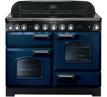 Rangemaster CDL110EIRB/C - 110cm Classic Deluxe Electric Induction Regal Blue/Chrome Range Cooker 113090