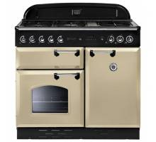 Rangemaster CLAS100NGFCR/C - 100cm Classic Natural Gas Cream/Chrome Range Cooker 111880