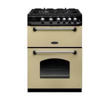 Rangemaster CLAS60NGFCRC - 60cm Classic Natural Gas Cream Chrome Range Cooker 107320