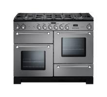 Rangemaster KCH110DFFSSC - 110cm Kitchener Dual Fuel Stainless Steel Chrome Range Cooker 98830