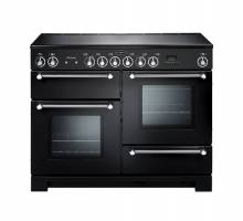 Rangemaster KCH110ECBLC - 110cm Kitchener Electric Ceramic Black Chrome Range Cooker 78860