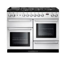 Rangemaster NEX110DFFWHC - 110cm Nexus Dual Fuel White Chrome Range Cooker 106110
