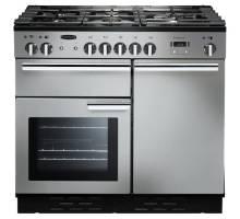 Rangemaster PROP100NGFSSC - 100cm Professional + Natural Gas Stainless Steel Chrome Range Cooker 111770