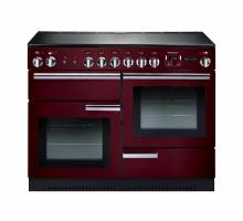 Rangemaster PROP110ECCYC - 110cm Professional + Electric Ceramic Cranberry Chrome Range Cooker 91890