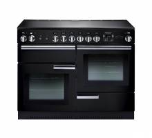 Rangemaster PROP110ECGBC - 110cm Professional + Electric Ceramic Black Chrome Range Cooker 91880