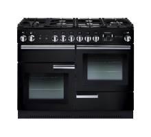 Rangemaster PROP110NGFGBC - 110cm Professional + Gas Black Chrome Range Cooker 91980