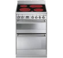 Smeg Concert SUK62CMX8 Ceramic Double Cavity Range Cooker - Stainless Steel