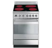 Smeg SY6CPX8 - 60cm Symphony Electric Ceramic Cooker - Stainless Steel
