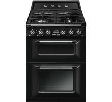 Smeg TR62BL - 60cm Victoria Aesthetic Dual Fuel Range Cooker - Black