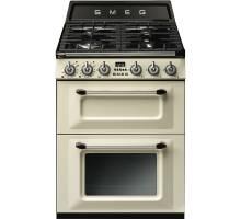 Smeg TR62P - 60cm Victoria Aesthetic Dual Fuel Range Cooker - Cream